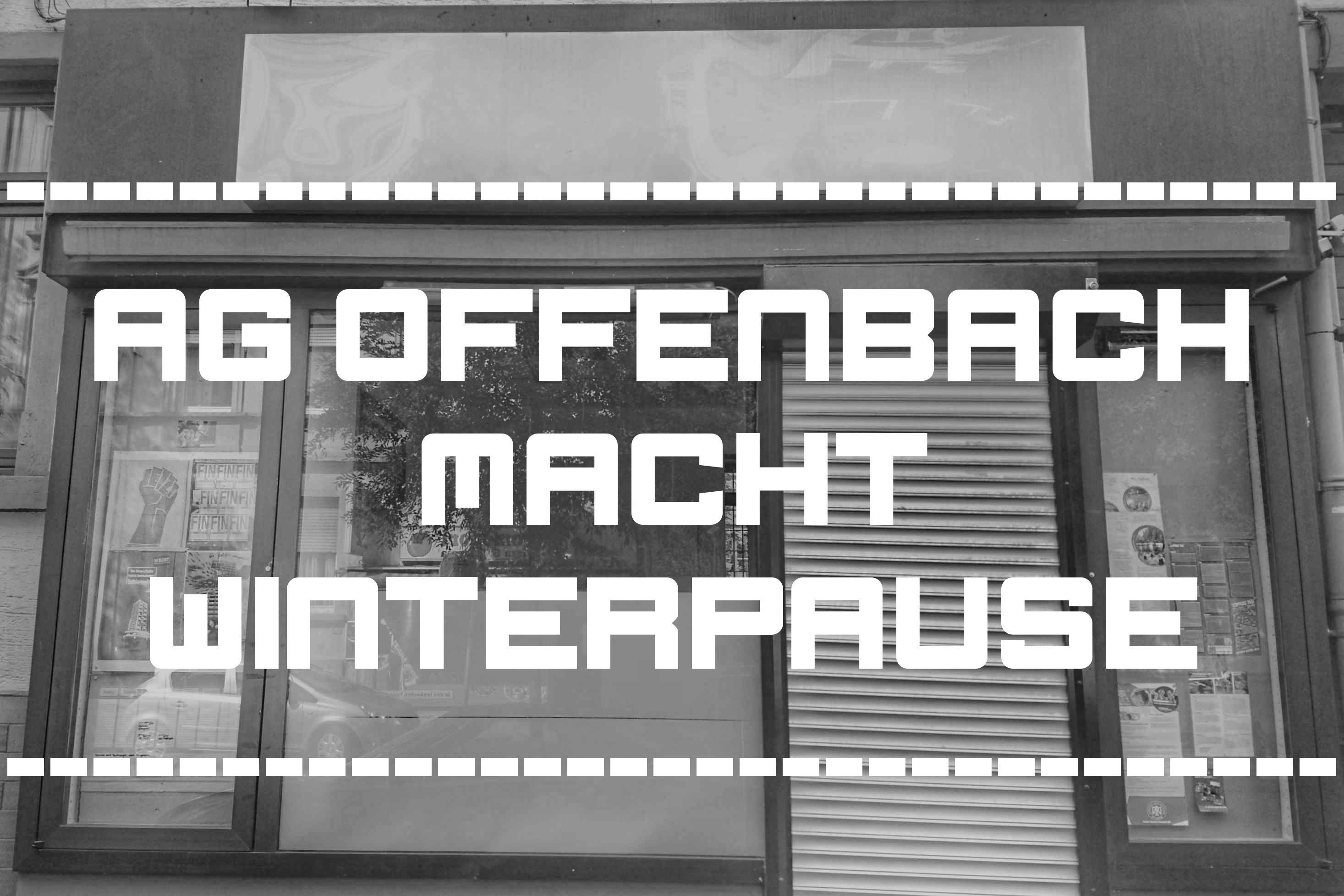 Ag Offenbach Macht Winterpause Rote Hilfe Ev Ortsgruppe